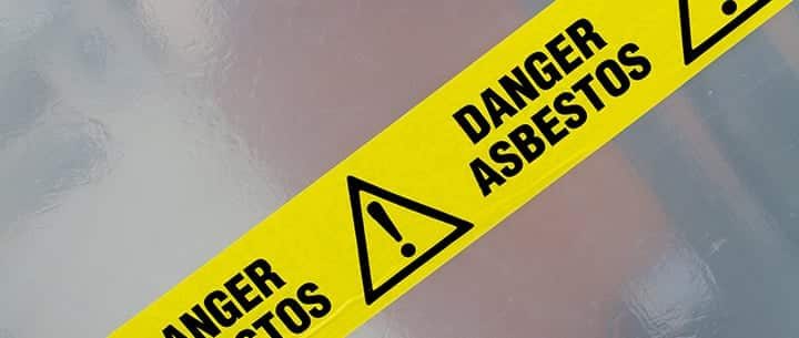 asbestos warning tape