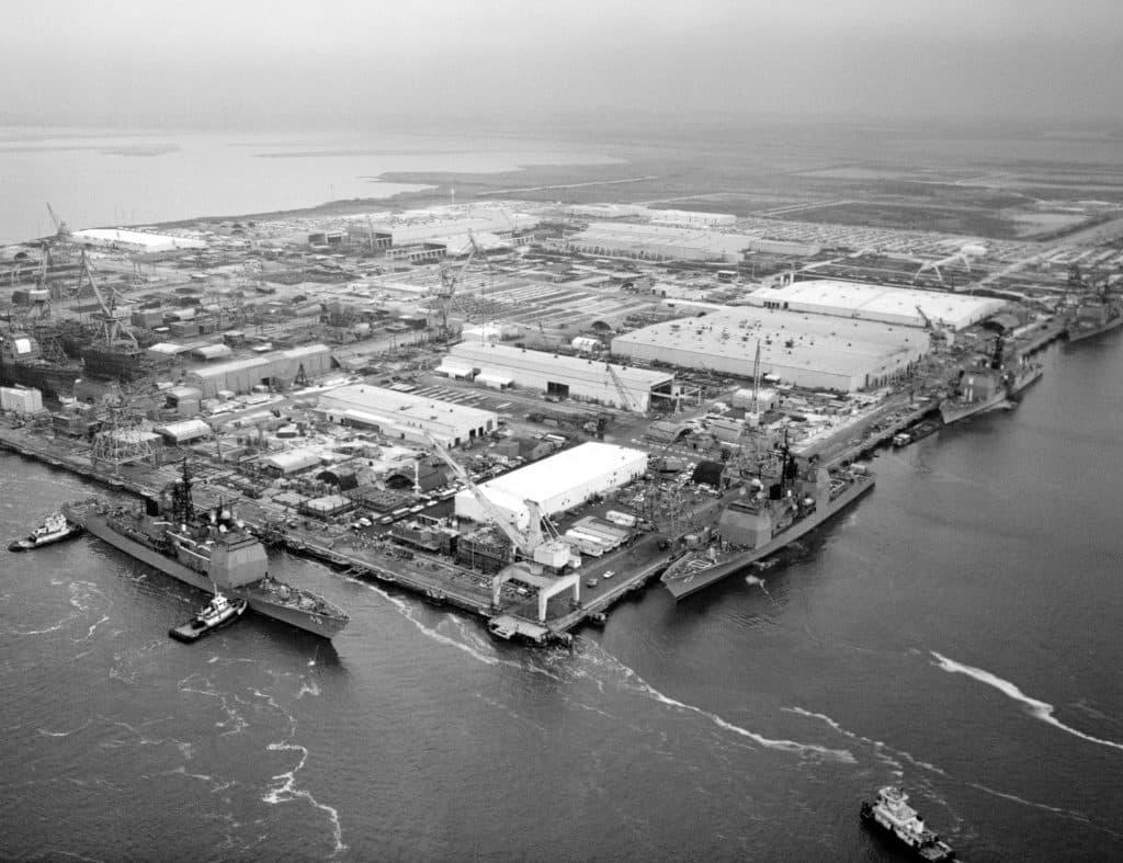 Ingalls Shipbuilding aerial view